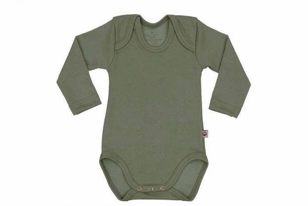 Wooden Buttons romper lm army
