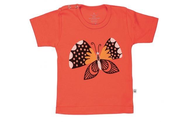 Wooden Buttens 135.012 T-shirt km vlinder zwart