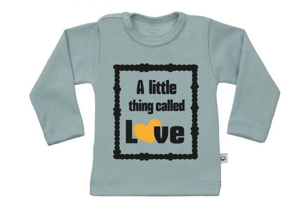 Wooden Buttons t-shirt lm A little thing called Love old green