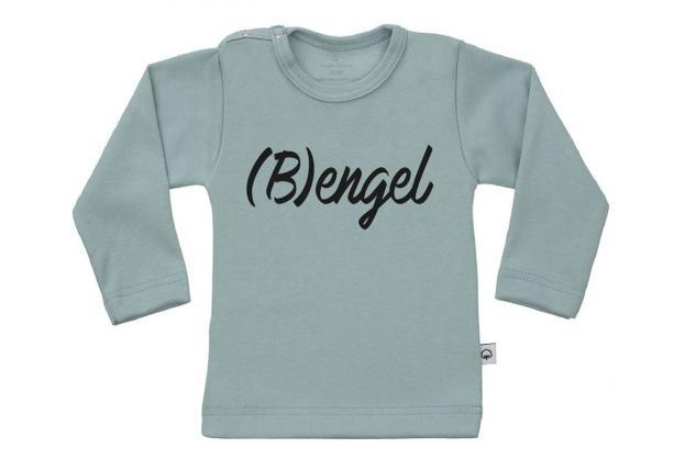 Wooden Buttens t-shirt lm Bengel old green