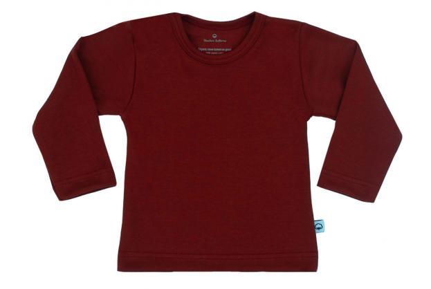 Wooden Buttons t-shirt lm bordeaux