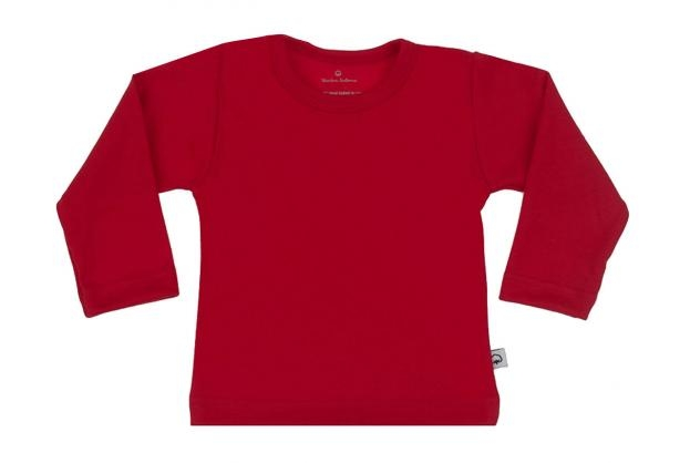 Wooden Buttons t-shirt lm rood