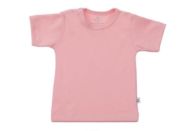 Wooden Buttons t-shirt km baby roze