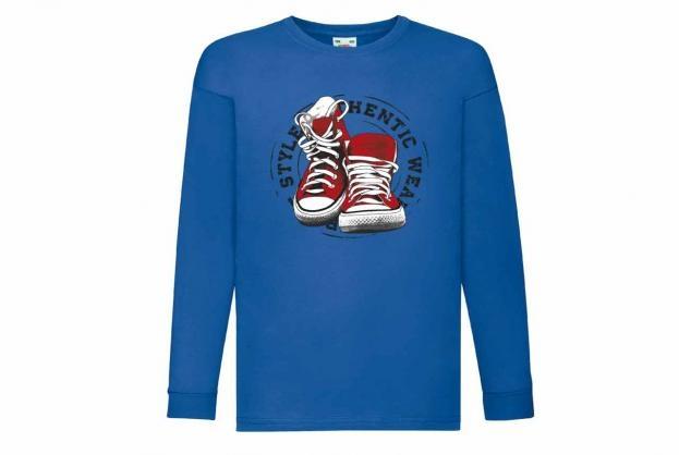 Discharge T-shirt lm kobalt schoenen
