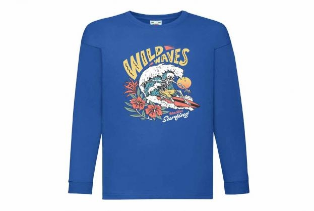 Discharge T-shirt km kobalt wild waves