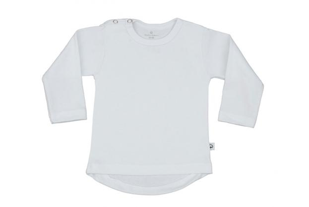 Wooden Buttons t-shirt lm rond wit