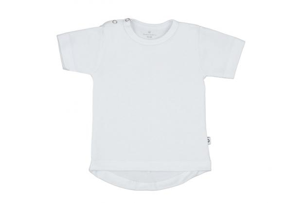 Wooden Buttons t-shirt rond km wit