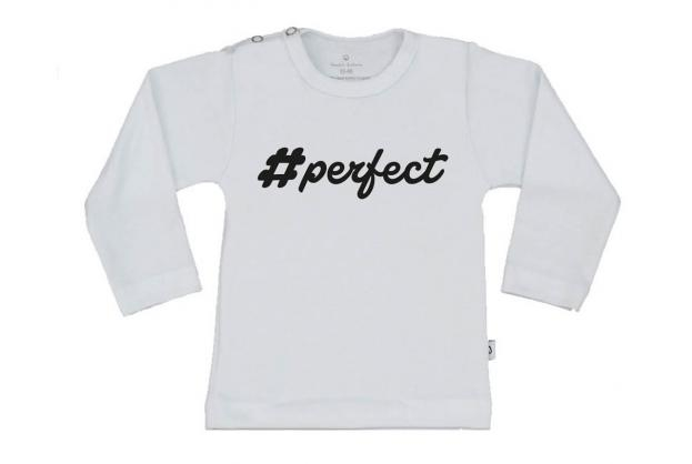 Wooden Buttens t-shirt lm perfect wit