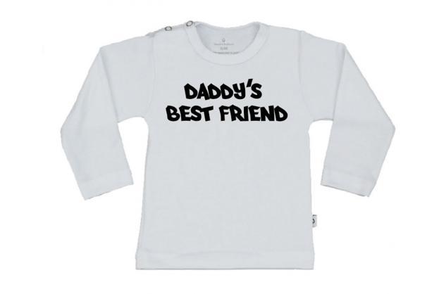 Wooden Buttens t-shirt lm Baddy's best friend