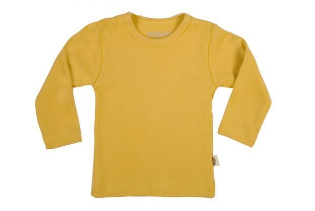 Wooden Buttons t-shirt lm oker geel