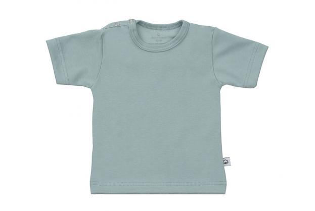 Wooden Buttons t-shirt km old green