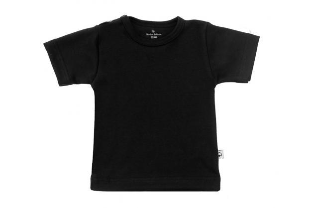 Wooden Buttons t-shirt km  zwart