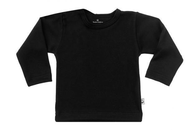 Wooden Buttons t-shirt lm  zwart