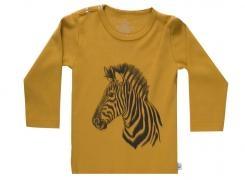Wooden Buttens t-shirt lm goud zeebra