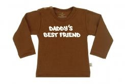 Wooden Buttens t-shirt lm  Dady s Best Friend choco