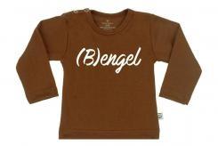 Wooden Buttens t-shirt lm  Bengel choco