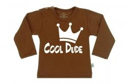Wooden Buttens t-shirt lm  Coole Dude Choco