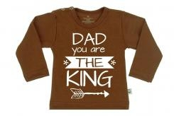 Wooden Buttens t-shirt lm  dad you are the King Choco