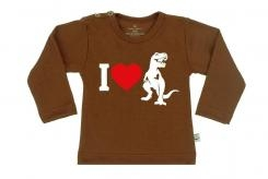 Wooden Buttens t-shirt lm i love dino choco