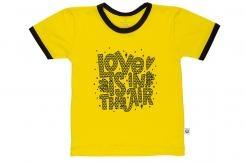 Wooden Buttens 135.003 T-shirt km geel