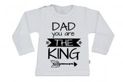 Wooden Buttens t shirt lm Dad you are the King wit