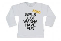 Wooden Buttons t shirt lm Xoxo Girls just wanna have fun wit