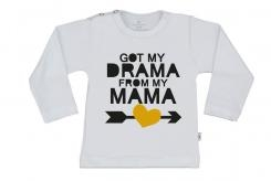 Wooden Buttons t shirt lm Got my  Drama Mama from my Mama wit