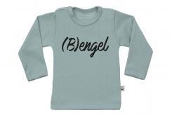 Wooden Buttons t-shirt lm Bengel old green
