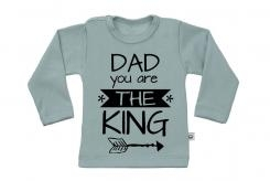 Wooden Buttens t-shirt lm Dad you are the king