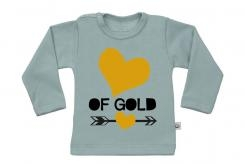 Wooden Buttons t-shirt lm Hart of Gold old green