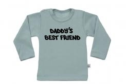 Wooden Buttens t-shirt lm Daddy s best friend old green