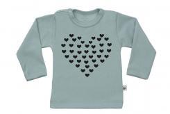 Wooden Buttons t-shirt lm hart van hartjes old green