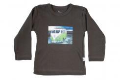 Wooden Buttens t-shirt lm  VW busje antraciet