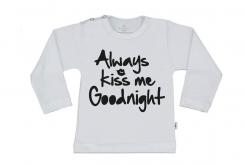 Wooden Buttens t-shirt lm always Kiss me Goodnight wit