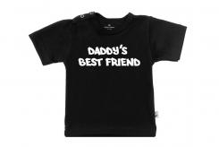 Wooden Buttons t-shirtklm Daddy s best friend zwart