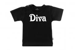 Wooden Buttons T-shirt lm Diva