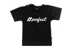Wooden Buttons t-shirt km perfect zwart