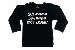 Wooden Buttons t-shirt lm  50 mama 50 papa 100 ikke