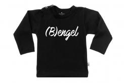 Wooden Buttens t-shirt lm Bengel zwart
