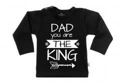 Wooden Buttens t-shirt lm Dad you are the king zwart