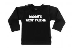 Wooden Buttens t-shirt lm Daddy s best friend zwart