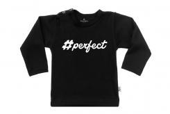 Wooden Buttens t-shirt lm i love perfect zwart