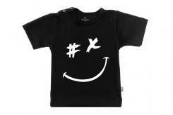 Wooden Buttons t-shirt lm gezichtje zwart