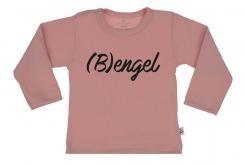 Wooden Buttens t-shirt lm  Bengel old roze