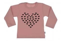 Wooden Buttons t shirt lm Hartje van Hartjes old roze