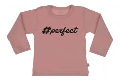 Wooden Buttens t shirt lm Perfect old roze