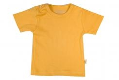 Wooden Buttens t-shirt km oker geel