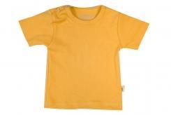 Wooden Buttons t-shirt km oker geel