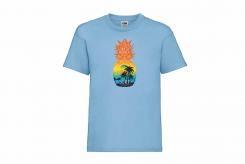 Discharge T-shirt km Bleu Annanas