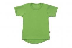 Wooden Buttons t-shirt km rond appel groen